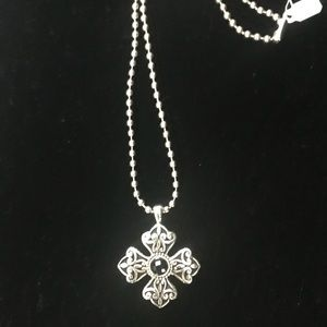 Jewelry - Silver Cross Necklace NWT!